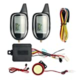 EASYGUARD EM208-2 2 Way LCD Display Motorcycle Alarm System with Remote Engine Start Motion Sensor & Built in Shock Sensor DC12V