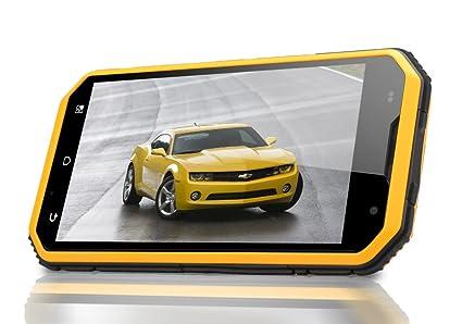 MFOX A6 - Smartphone Robuste / IP68 / Écran OGS 5 pouces 1920x1080 / CPU Quad Core 1.5GHz MTK6589T / 2Go de RAM / Android 4.4 / Jaune*