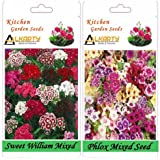 Alkarty Sweet William Mixed And Phlox Mixed Seeds Pack Of 20 (Winter)