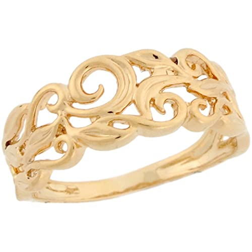 14k-Real-Yellow-Gold-Vine-Designer-Band-Ladies-Ring