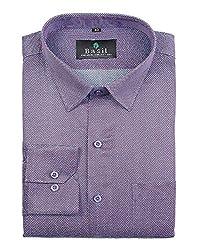Basil Men's Poly Cotton Formal Shirt (BA380PLC56FSF-42, Blue, 42)