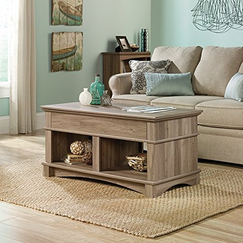 Sauder Harbor View Lift Top Coffee Table in Salt Oak (Coffee Table That Lifts Up compare prices)