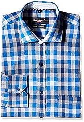 Dennison Men's Formal Shirt (SS-16-389_44_Blue)