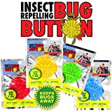 BUG BUTTON - All Natural Mosquito Repelling Badge - Guaranteed to Work - No Messy Lotions, Sprays, or Plastic - Fast & Easy! 30 Day Money Back Guarantee (60)