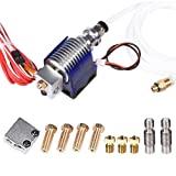 Wangdd22 3D Printer J-head Hotend with Fan for 1.75mm 12v V6 Direct Filament Wade Extruder 0.4mm Nozzle+Volcano kit