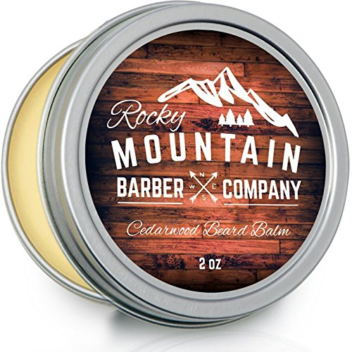 Beard-Balm-Rocky-Mountain-Barber-100-Natural-Premium-Wax-Blend-with-Cedarwood-Scent-Nutrient-Rich-Bees-Wax-Jojoba-Tea-Tree-Coconut-Oil