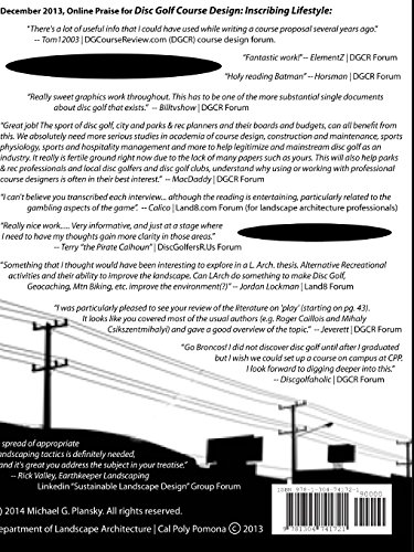 DISC GOLF COURSE DESIGN: Inscribing Lifestyle into Underutilized Landscapes