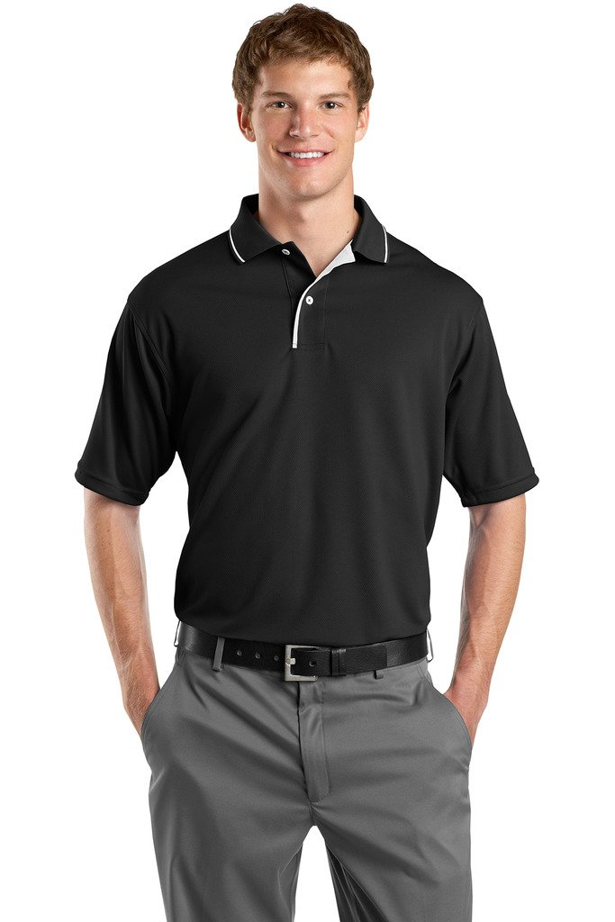 Striped Collar Polo Sport Mens Shirt