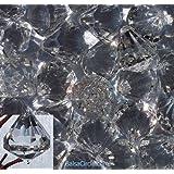 60 Small Clear Crystal Like Drop Ornaments