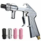 Jewboer Sandblaster Air Siphon Feed Blast Gun Nozzle Ceramic Tips Abrasive Sand Blasting