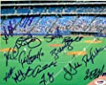 Roy Halladay Toronto Blue Jays Autographed 8x10 Photo Roy Halladay, Vernon Wells & 12 Others - PSA/DNA Authentic