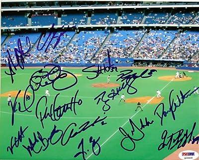 Roy Halladay Toronto Blue Jays Autographed 8x10 Photo Roy Halladay, Vernon Wells & 12 Others - PSA/DNA Authentic