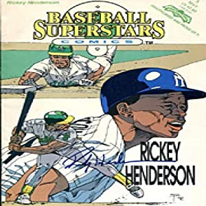 Rickey Henderson Autographed Signed Baseball Superstars Comic Book by Hollywood Collectibles