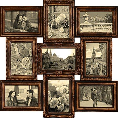 empireposter-739612-budapest-kupfer-collage-multishot-bilderrahmen-kunststoff-rahmen-glasscheiben-9-