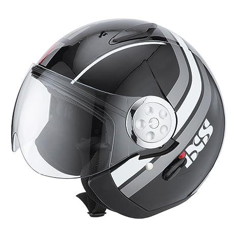IXS hX 137 casque jet sTYLE-noir/blanc mat)