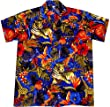 """Hawaiihemd / Hawaiishirt """"Jungle Party (blue)"""" 100% Polyester, Gr��e M - 2XL"""