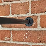 RoomDividersNow Black Tension Curtain Rod, 66in-120in