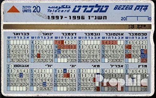 Israel 110 20 Einheiten gebraucht Kalender (Telefonkarten für Sammler)