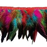 Sowder Rooster Hackle Feather Fringe Trim 5-7