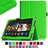 Fintie Slim Fit Leather Cover Folio Case Cover for 8.9 inch Amazon Kindle Fire HDX - Green