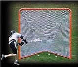 EZGoal Lacrosse Folding Goal with Tilting Rebounder, 6 x 6-Feet, Orange