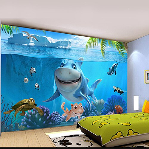 Touch 0732387334217 1pc Non Woven Cartoon Sea 3d Wallpaper Kids
