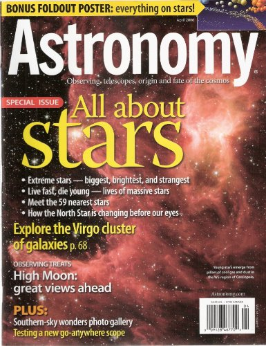 Astronomy April 2006 All About Stars (Observing, Telescopes, Origin And Fate Of The Cosmos)