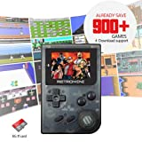 KOBWA Handheld Game Console, Pocket Arcade Game Console 2 Inch 168 Classic Games TV Output Video GBA FC Game Player USB Mini Retro Handheld Games Console, Birthday Presents for Children, Q8, 32G(NOT) (Color: Black Q8(compatible Memory Card))
