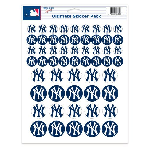 "New York Yankees Sticker Sheet 8.5""x11"