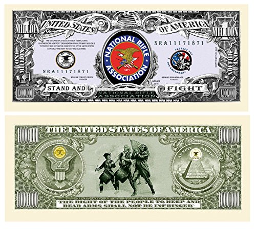 Set of 10 - NRA National Rifle Association Million Dollar Bill