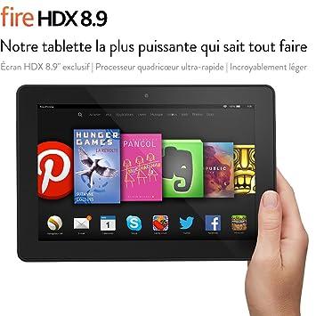 """Fire HDX 8.9, écran HDX 8,9"""" (22,6 cm), Wi-Fi, 16 Go - avec offres spéciales"""