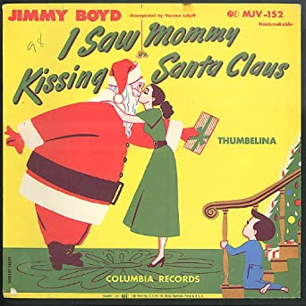 Jimmy Boyd I Saw Mommy Kissing Santa Claus record SLEEVE ONLY 1950s