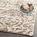 Safavieh Florida Shag Collection SG462-1113 Cream and Beige Shag Area Rug