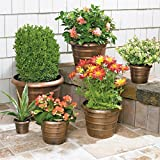 Brylanehome Nesting Planters, 6-Pc. Set