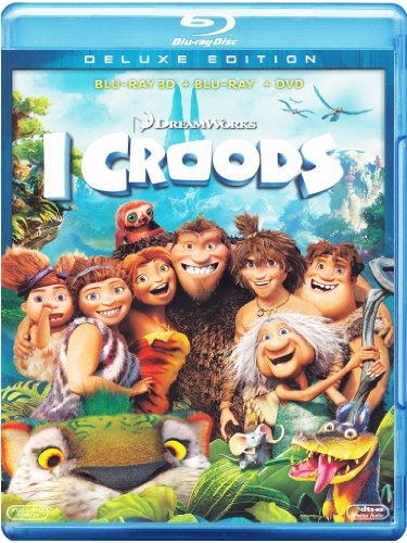 I Croods (2D+3D+DVD) [Blu-ray] [IT Import]