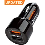 2019 HUSSELL 5.4A 30W Dual USB Car Charger Adapter - Quick Charge 3.0 3A + Smart IC 2.4A - Compatible with iPhone Xs X 8 7 6 5 Plus Max Samsung Galaxy S9 S8 S7 S6 etc. - Fast Chargers - Updated (Tamaño: Premium)