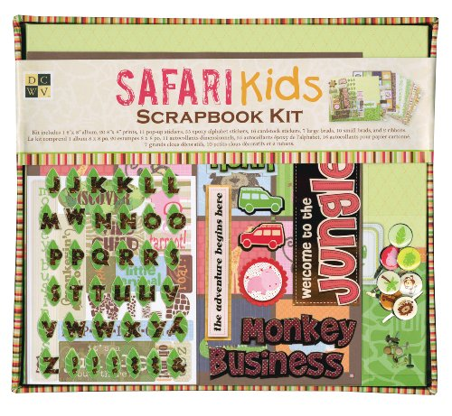 Die Cuts With A View Safari Kids Album Kit front-73269
