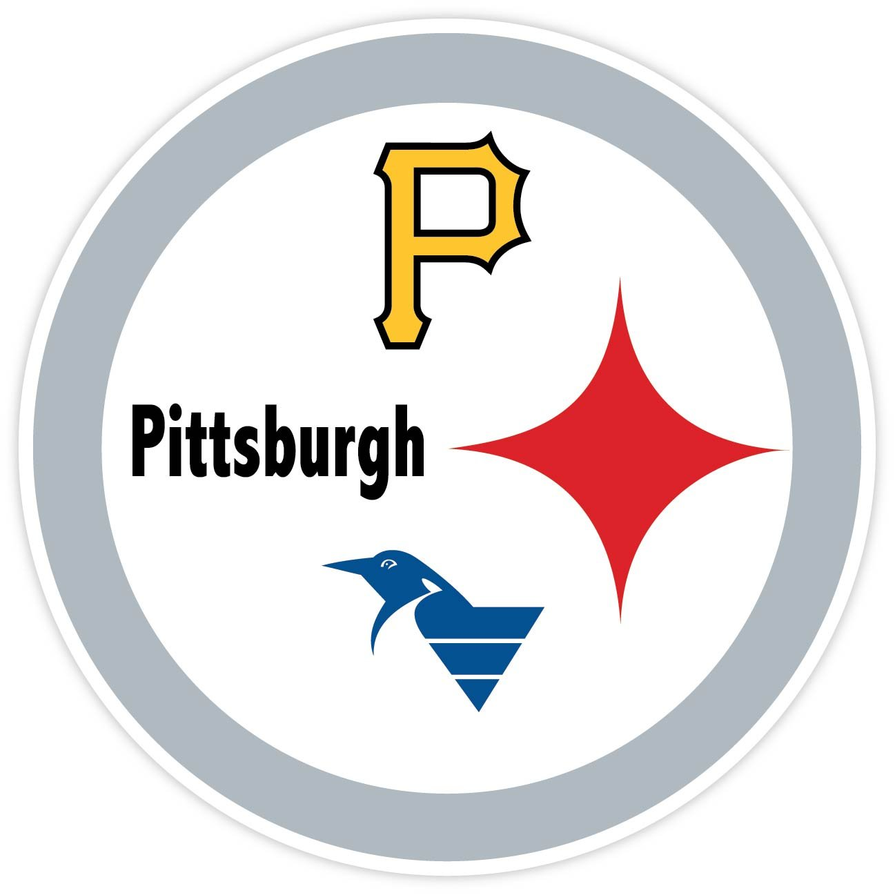 Steelers Penguins Pirates Decal Steelers Penguins Pirates