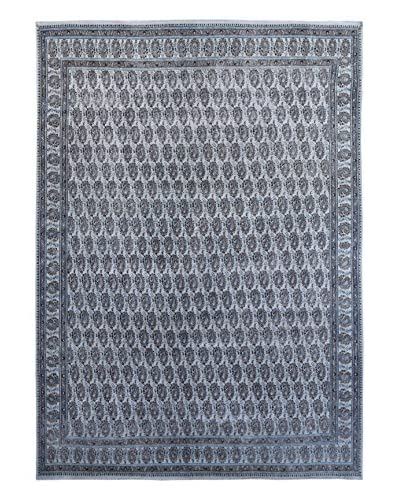 "Kalaty One-of-a-Kind Pak Vintage Rug, Blue/Grey, 10' 2"" x 13' 3"""