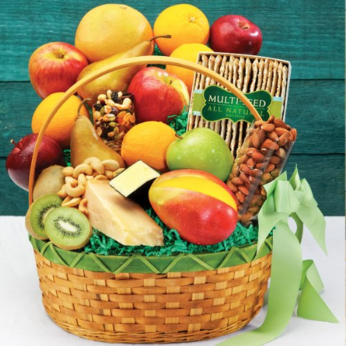 Fruit, Cheese & Nuts Fruit Basket