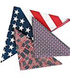 PATRIOTIC COTTON BANDANNA ASSORTMENT (1 DOZEN) - BULK