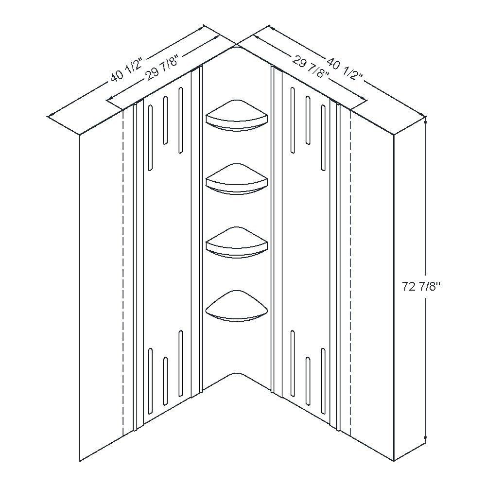 DreamLine SHBW-1241720-00 Shower Kit Enclosure Backwall наматрасник dreamline латекс 60 мм 90x190