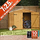 7x2.5 FT WOODEN GARDEN BIKE SHED / LOG TOOL BBQ FURNITURE STORE courtesy of Westmount Living