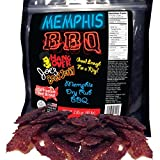 Memphis Dry Rub BBQ Flavored Gourmet Beef Jerky - Made with Premium USA Beef Brisket, 2.85oz bag
