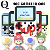 Q-Day SUP PLUS Handheld Video Game Console. 400 Classic Games in 1. SUPREME + GameBoy Games (Yellow) (Color: Yellow)
