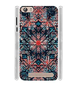Circular Pattern Painting Soft Silicon Rubberized Back Case Cover for Gionee Pioneer P5L