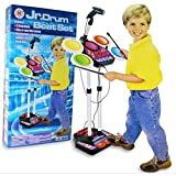 Electronic Drum Set Height Adjustable Toy For Kids 3.5 Feet - Mic, Recording And Various Sounds