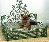 愛犬 ドッグソファー ペット 猫 ベッド ビクトリア朝 アンティーク ソファ 小型犬 鉄筋 [グリーン/緑]