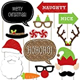 Christmas Party - Photo Booth Props Kit - 20 Count