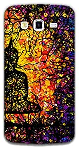 The Racoon Lean Tree of Enlightenment hard plastic printed back case / cover for Samsung Galaxy Grand 2